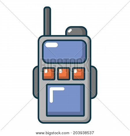 Paintball portable radio icon. Cartoon illustration of paintball portable radio vector icon for web
