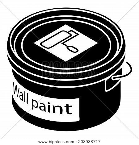Wall paint bucket icon. Simple illustration of wall paint bucket vector icon for web design isolated on white background