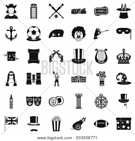 Trick icons set. Simple style of 36 trick vector icons for web isolated on white background
