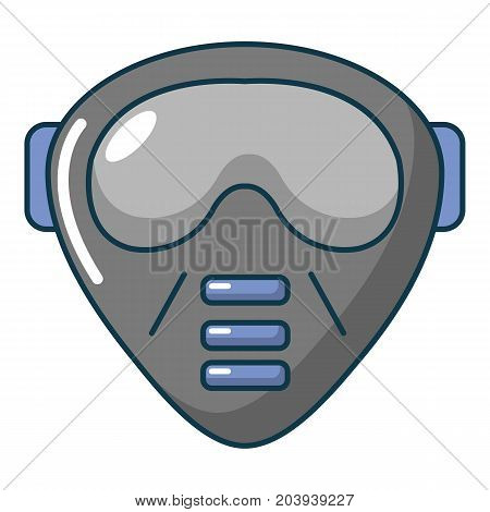 Paintball mask icon. Cartoon illustration of paintball mask vector icon for web