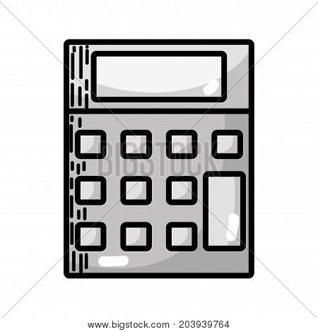 grayscale technology calculator tool to account economy vector illustration