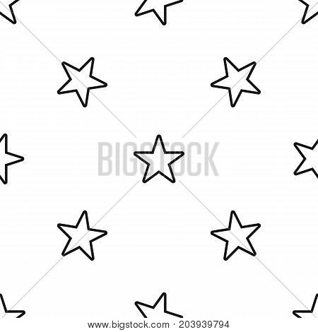 Star pattern repeat seamless in black color for any design. Vector geometric illustration