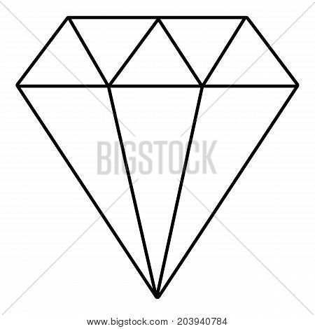 Diamond icon. Outline illustration of diamond vector icon for web design isolated on white background