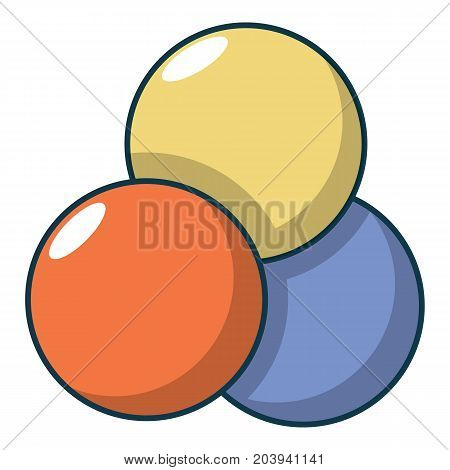 Paintball balls icon. Cartoon illustration of paintball balls vector icon for web