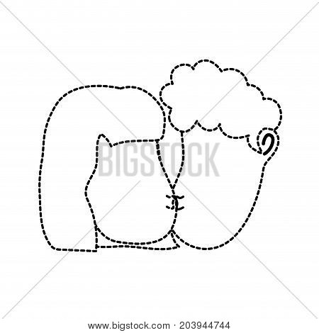 dotted shape avatar couple face kissing with hairstyle design vector illustration
