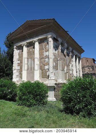19.06.2017 Roma Italy: The Temple of Fortune Virile