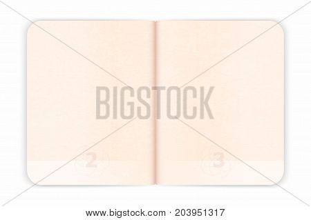 Vector Passport Blank Pages For Visa Stamps. Empty Passport With Watermark