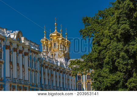 ST.PETERSBURG/RUSSIA - JULY 26, 2017. Catherine Palace - the former Imperial Palace, the official summer residence of the three Russian monarchs