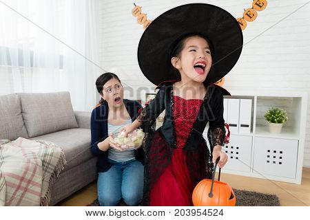 Naughty Happy Child Play Trick Or Treat