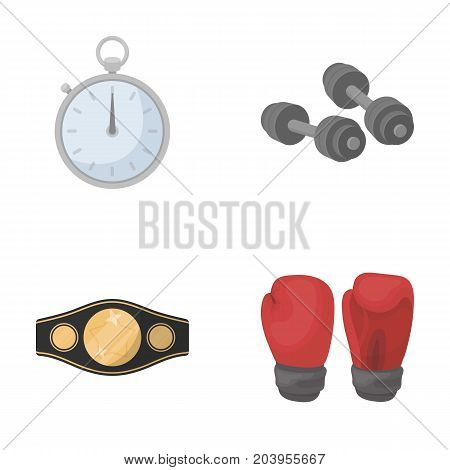 Boxing, sport, stopwatch, watch .Boxing set collection icons in cartoon style vector symbol stock illustration .