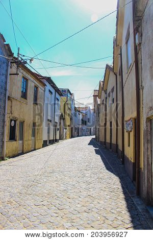 The small streets of Vila Cha in portugal, fisherman's town