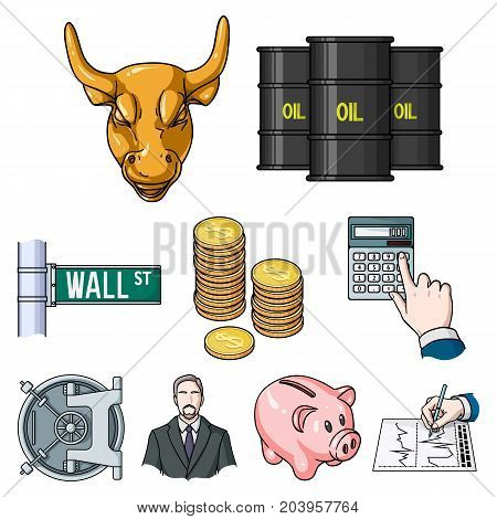 Money and finance set icons in cartoon design. Big collection of money and finance vector symbol stock illustration