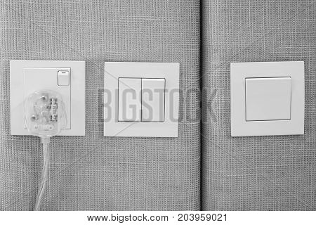 Electrical Outlets And Light Switches.