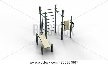 street sport rack complex 2 isolated on a white background 3d illustration render