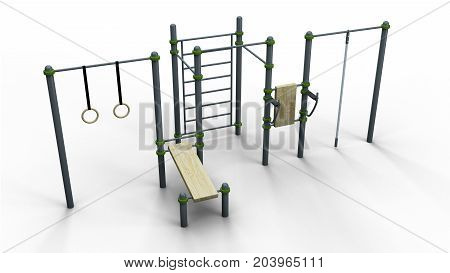 street sport rack complex 10 isolated on a white background 3d illustration render