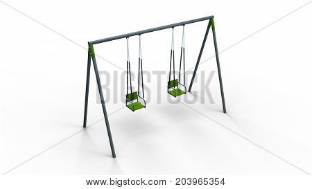 double swing isolated on white background 3d illustration render
