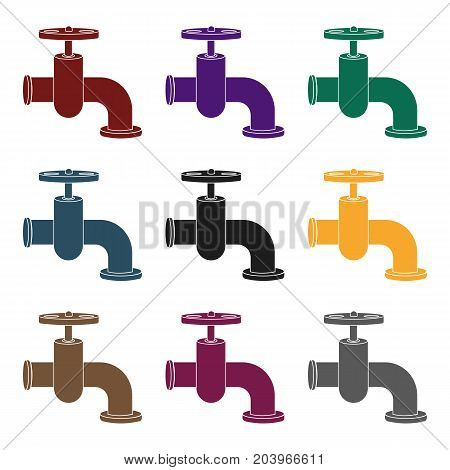 Tap icon in black style isolated on white background. Build and repair symbol vector illustration.