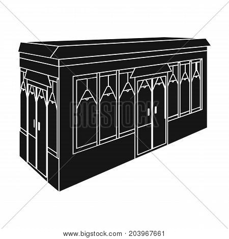 Bar, restaurant. Architectural construction of the bar single icon in black style vector symbol stock illustration .