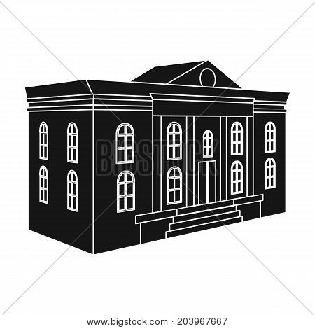 The architectural building of the museum. The Museum single icon in black style vector symbol stock illustration .