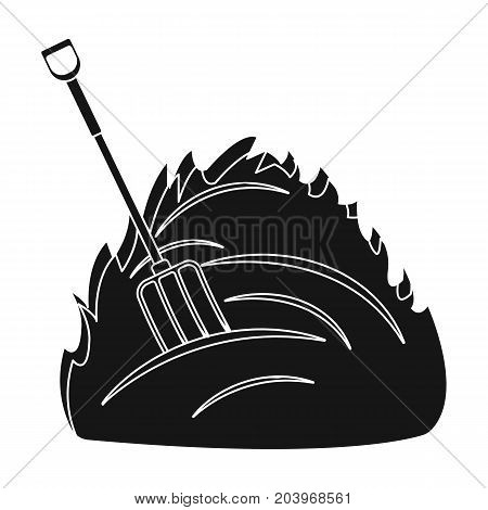 Hay single icon in black style .Hay vector symbol stock illustration .