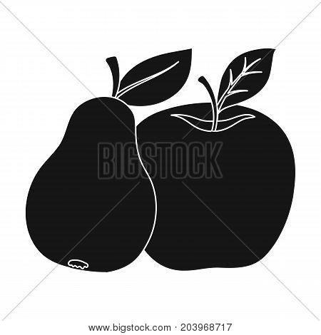 Fruit single icon in black style .Fruit, vector symbol stock illustration .