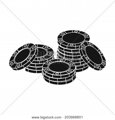 Chip, single icon in black style.Chip, vector symbol stock illustration .