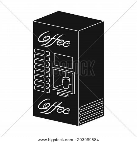 Terminal, preparation of various types of coffee. Terminals single icon in black style isometric vector symbol stock illustration .