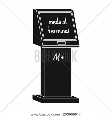 Medical terminal. Terminals single icon in black style isometric vector symbol stock illustration .