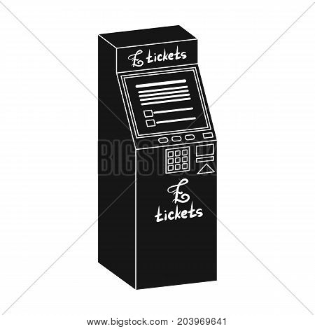 Terminal for ticket sales. Terminals single icon in black style isometric vector symbol stock illustration .