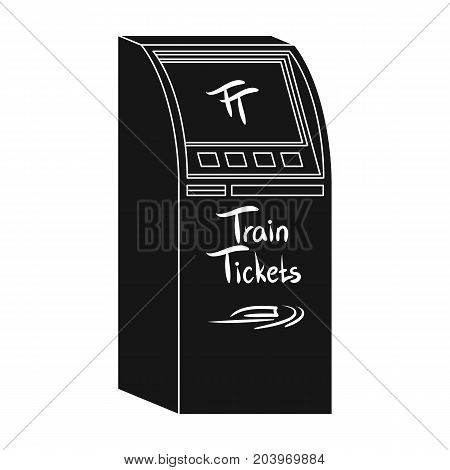 Terminal for train tickets. Terminals single icon in black style isometric vector symbol stock illustration .