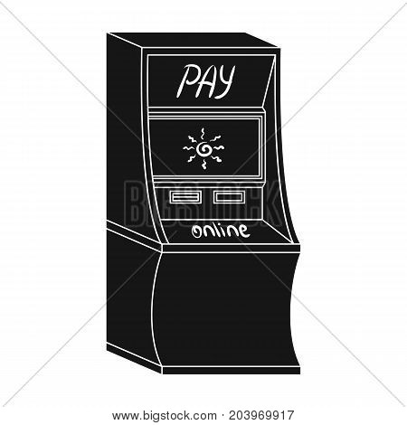 Terminal for various types of payment. Terminals single icon in black style isometric vector symbol stock illustration .