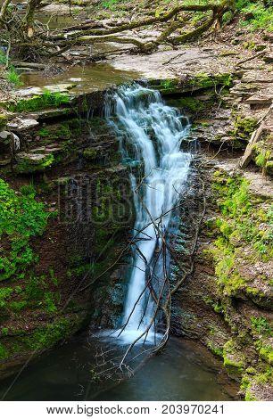 Rusyliv Waterfall, Ukraine.