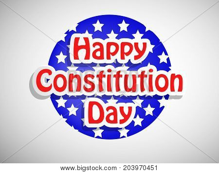 illustration of Happy Constitution Day text on the occasion of USA Constitution Day