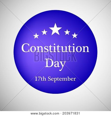 illustration of Constitution Day text and stars on the occasion of USA Constitution Day