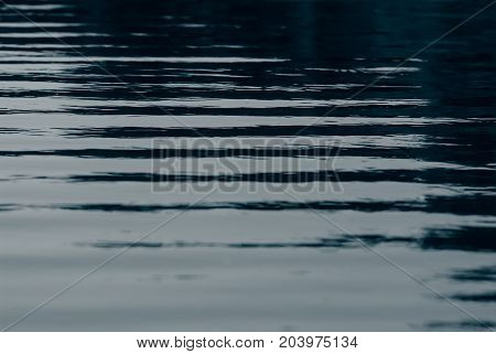 Surface of water and waves dark tonality. Background for web page design.