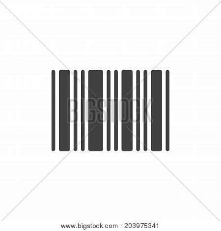 Barcode icon, vector sign, pictogram isolated on white. Symbol, logo illustration. Pixel perfect vector graphics