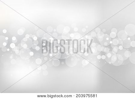 Abstract blurred soft focus bokeh of white and gray color background concept copy space Vector illustration