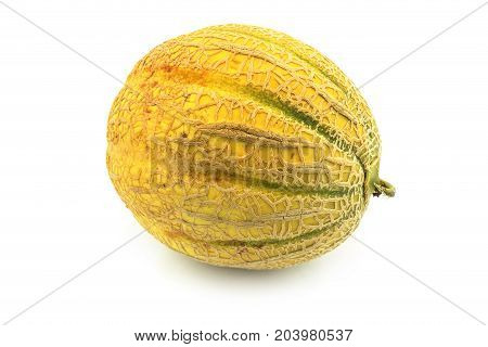 Muskmelon close up of sweet meon on white background