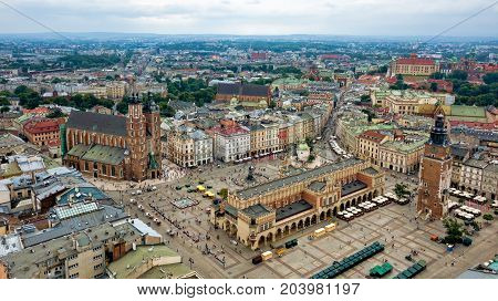 Krakow Marketplace aerial photography, Poland.Drone of the Photographer
