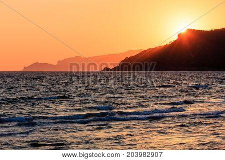 Sunset On Sea Beach