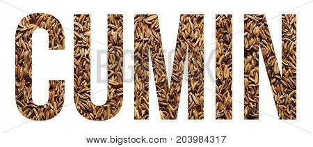 cumin seeds text banner sample over white