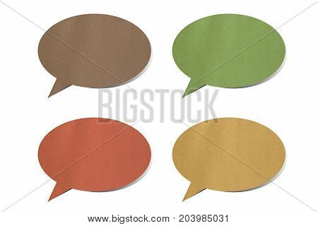 colorful speech bubbles and dialog on white background