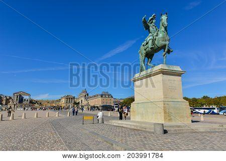 Paris - Statue Of Louis Xiv, Versailles Palace