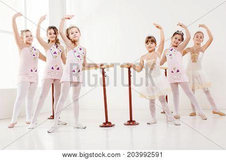 Little Girls Practicing Ballet