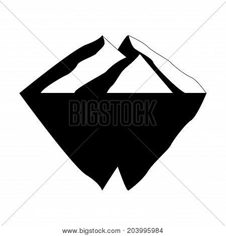 Iceberg vector icon isolated on white background. Ice berg vector icon. Iceberg vector eps clip art.