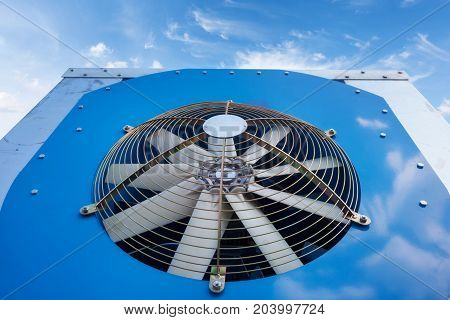 New air conditioning system against the blue sky