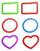 stickers design with heart poster