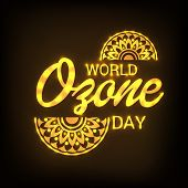 illustration of a Background for World Ozone Day. poster