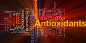 Background concept wordcloud illustration of antioxidants health nutrition glowing light poster