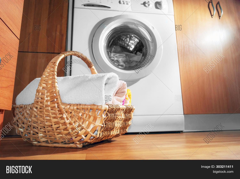 Wicker Basket Clean Image Photo Free Trial Bigstock
